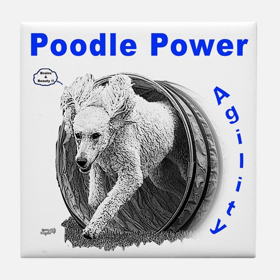 Poodle Power Agility Tile Coaster