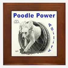 Poodle Power Agility Framed Tile