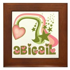 Rainbows & Stars Abigail Personalized Framed Tile