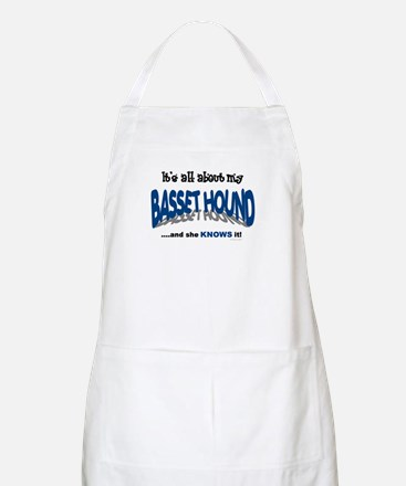 All About My Basset Hound (She) BBQ Apron