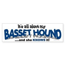 All About My Basset Hound (She) Bumper Bumper Sticker