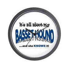 All About My Basset Hound (She) Wall Clock
