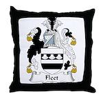 Fleet Family Crest Throw Pillow