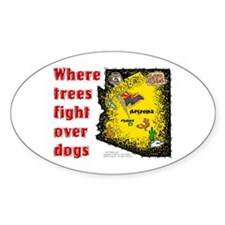 AZ-Trees Fight! Oval Decal