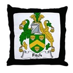Fitch Family Crest Throw Pillow