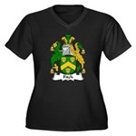 Fitch Family Crest Women's Plus Size V-Neck Dark T