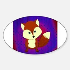 Red Fox on Purple Decal