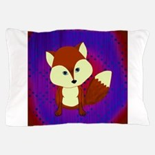 Red Fox on Purple Pillow Case