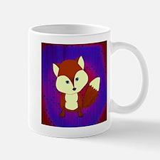 Red Fox on Purple Mugs