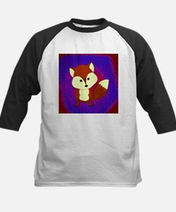 Red Fox on Purple Baseball Jersey