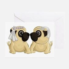 Pug Brides Greeting Cards