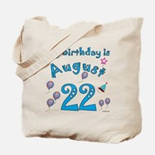 August 22nd Birthday Tote Bag
