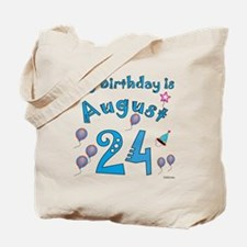 August 24th Birthday Tote Bag