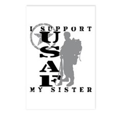 I Support My Sister 2 - USAF  Postcards (Package o