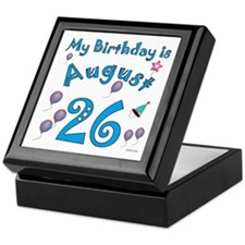 August 26th Birthday Keepsake Box