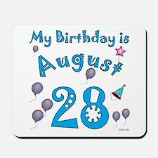 August 28th Birthday Mousepad