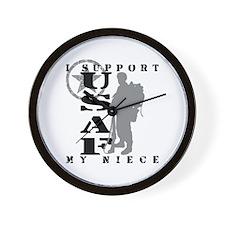 I Support My Niece 2 - USAF  Wall Clock