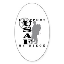 I Support My Niece 2 - USAF Oval Decal