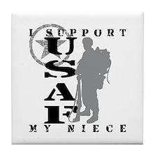I Support My Niece 2 - USAF  Tile Coaster