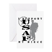 I Support My Niece 2 - USAF  Greeting Cards (Pk of