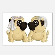 Pug Brides Postcards (Package of 8)