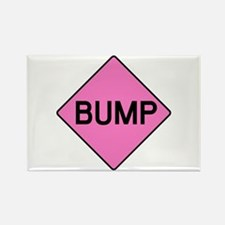 BABY BUMP (PINK) Rectangle Magnet