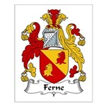 Ferne Family Crest  Small Poster