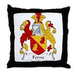 Ferne Family Crest  Throw Pillow