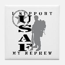 I Support My Nephew 2 - USAF  Tile Coaster