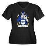 Fenn Family Crest Women's Plus Size V-Neck Dark T-