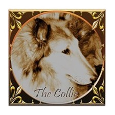 Antique Collie Tile Coaster