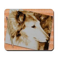 Antique Collie Mousepad