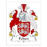 Felton Family Crest Small Poster