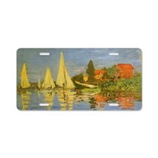 Claude Monet Regatta at Arg Aluminum License Plate