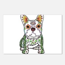 Sugar Skull Frenchie Postcards (Package of 8)