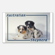Australian Shepherd-2 Rectangle Decal