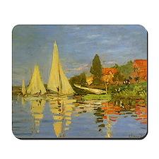 Claude Monet Regatta at Argenteuil Mousepad