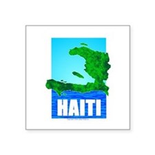 "Cool Haiti map Square Sticker 3"" x 3"""