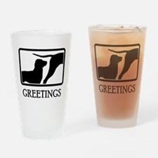 Treeing Tennessee Brindle Drinking Glass
