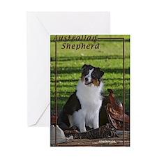 Australian Shepherd-3 Greeting Card