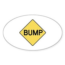 BABY BUMP (YELLOW) Oval Decal