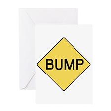BABY BUMP (YELLOW) Greeting Card