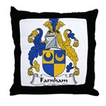 Farnham Family Crest  Throw Pillow