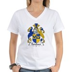 Farnham Family Crest  Women's V-Neck T-Shirt