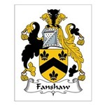 Fanshaw Family Crest Small Poster