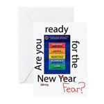 New Year (fear) Greeting Cards (Pk of 10)