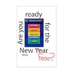 New Year (fear) Mini Poster Print