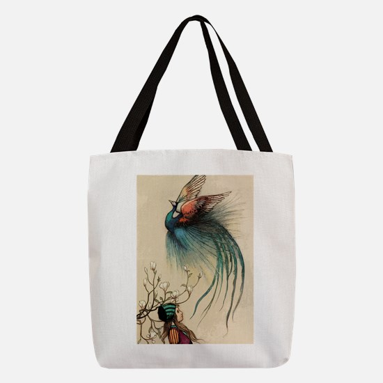 Fairy tale Peacock Polyester Tote Bag