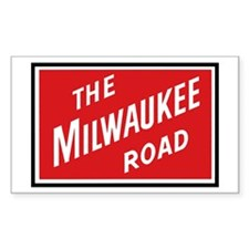 Milwaukee Road 2 Rectangle Bumper Stickers