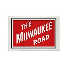 Milwaukee Road 2 Rectangle Magnet